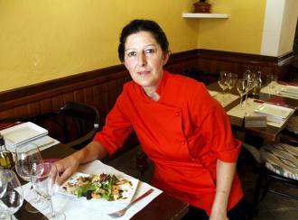 Ensalada templada de langostinos y puerros confitados con Oli de Mallorca D.O. y vinagreta de almendras