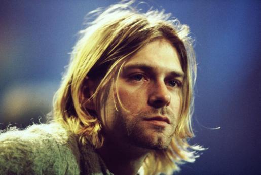 Kurt Cobain, durante la grabación del famoso 'Unplugged' de Nirvana.