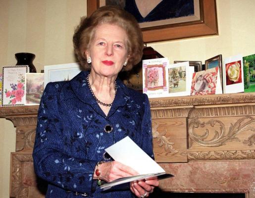 Fotografía de archivo del 75 aniversario de Margaret Thatcher.