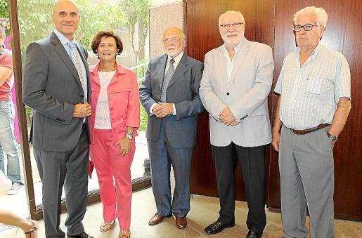 Antonio Ortiz, Mª José Guerrero, Román Piña, José Manuel Bonnín y Alberto Llodrà.