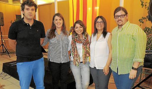 Bartomeu Payeras, Margalida Gost, Amèlia Redondo, Cati Cantallops y Arnau Socias.
