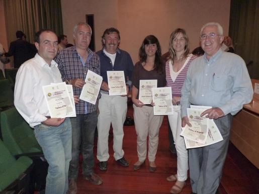 Jesús González, Llorenç Perelló, Antoni Gelabert, Xisca Armero, Esperanza Nadal y Antoni Enseñat.