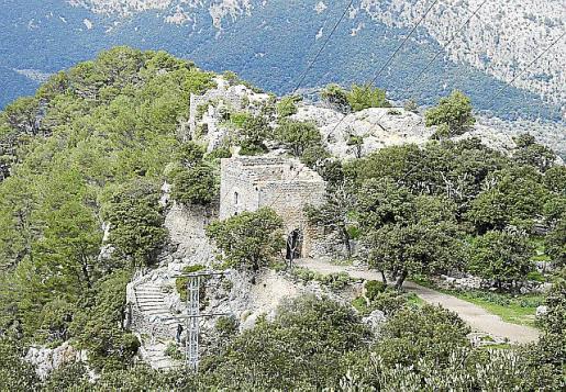 La cima del castillo se puede ver en tiempo real.