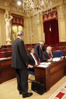 El president Antich , junto a Diéguez, Manera y Moragues.