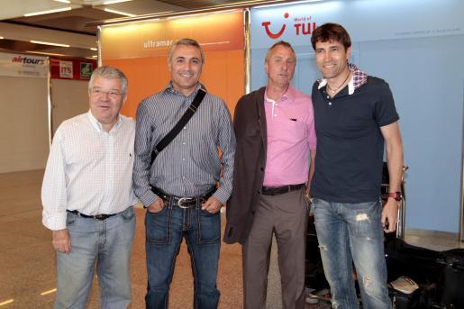 Josep Maria Minguella, Hristo Stoichkov, Johan Cruyff y Julio Salinas.