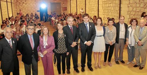 Aguiló, Cortés, Martorell, Durán, Blanco, Sansaloni, Llobera, Serra, Heine, Cirer y Ballesteros, minutos antes de la conferencia.