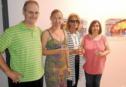 Tomeu Payeras, Vera, Magdalena Tornila y Dolors Pérez.