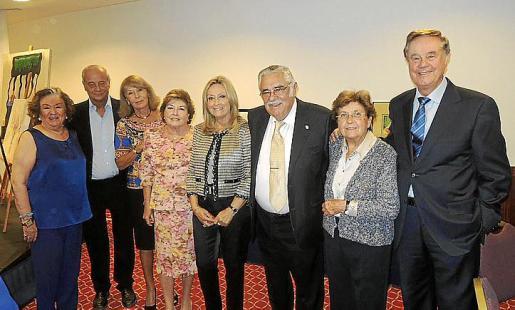 Carmen Ceva, Pepe Caldentey, Eugenia Mora, Ana Mª Jaume, Rafi Córdoba, Pere A. Serra, Margalida Magraner y Gabriel Escarrer.