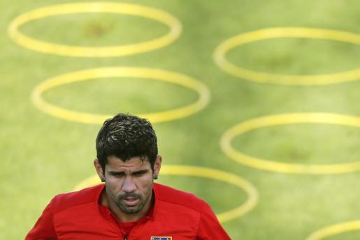 El delantero hispano-brasileño del Atlético de Madrid, Diego Costa.