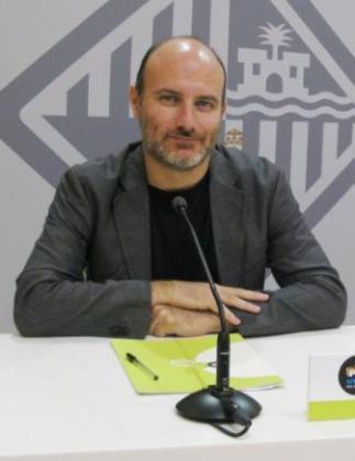 El portavoz de MÉS en Cort, Antoni Verger, en rueda de prensa.