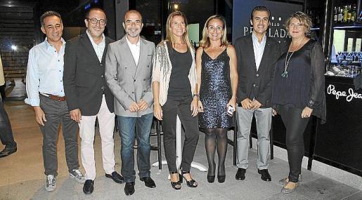 Pep Torres, Pedro Mesquida, Rafael Font, Joana Maria Coll, Mabel Cabrer, Antonio Vera y Ana Calatayud.