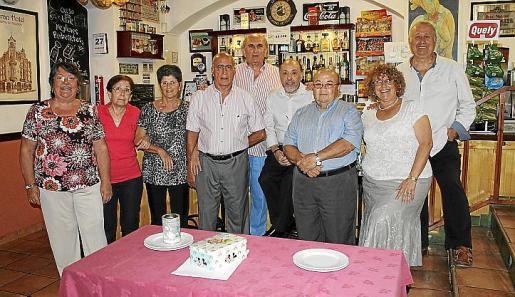 Mª Carmen García, Margarita Valls, Cati Romero, Jesús del Cerro, Pedro Terrasa, Pedro Castañer, Bautista Solano, Pepi Calafell y Andrés Alba.