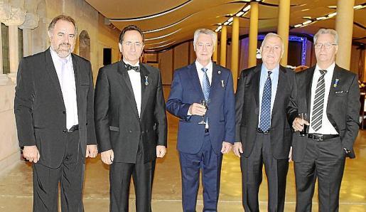 Manuel Juez, Francisco Paramio, José Sánchez Tinoco, Ángel Galmés y Fernando Carranza