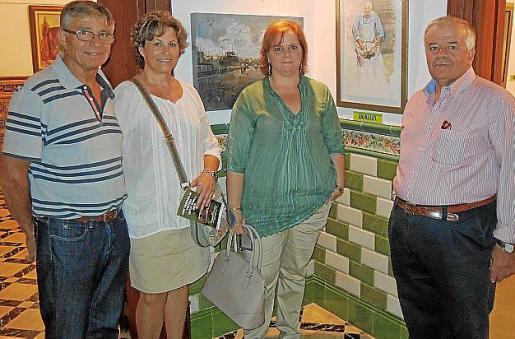 Miquel Ferrer, Puri Bolivar, Gina Mayrata y Miquel Ferragut.