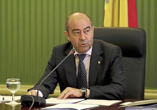 El conseller Antoni Gómez presentó el presupuesto de la Film Commission ayer.