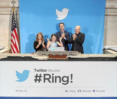 Momento en el que Twitter hace su presentación en Wall Street.