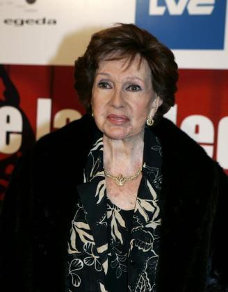 Fotografía de archivo del 19 de enero de 2007 de la actriz Amparo Rivelles, que falleció ayer a los 88 años de edad.