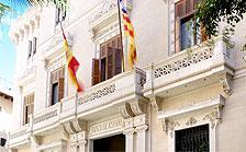 Imagen de la fachada del Banco de España en Palma.
