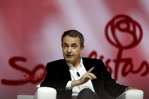 El expresidente del Gobierno, José Luis Rodríguez Zapatero, durante su participación en la Conferencia Política del PSOE en Madrid.