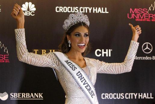 La venezolana Gabriela Isler, tras ser proclamada Miss Universo.