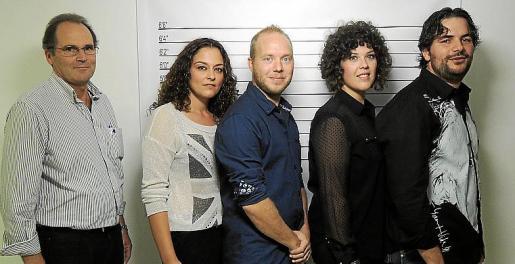 Bernat Ribot, Isabel Socias, Joan Manuel Dalmau, Joana Maria Font y Guillem Mayol.