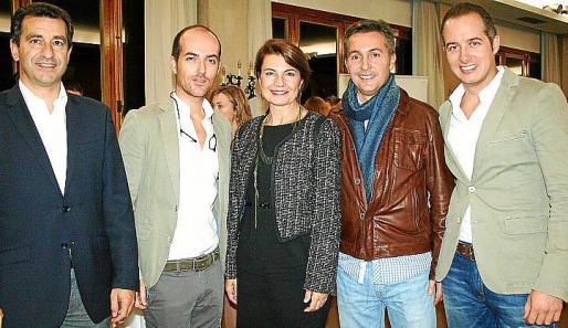 Gabriel Company, Juan Ferragut, Margalida Durán, Francisco Mercadal y Marcos Ferragut.