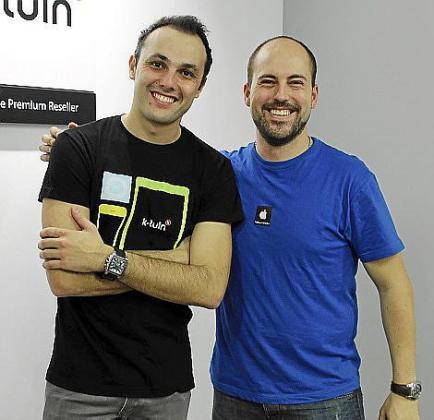 Álex Oliván y Fran Andrés.