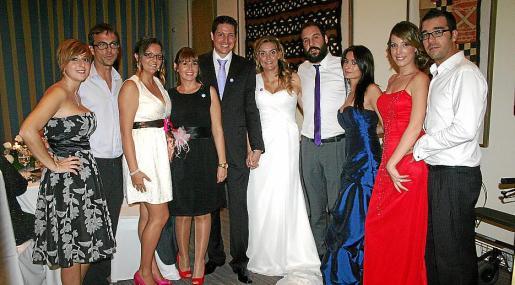 Marian Xamena, Rafa Martínez, Esther Oliver, Caty Xamena, Marcos y Carol, Jorge García-Oeo, Rosa Adelino, Maria Cruz y Jesús García-Oeo Martorell.