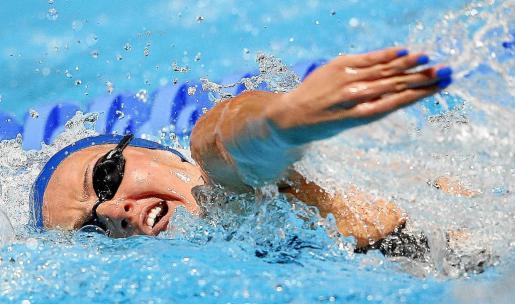 La nadadora mallorquina Melani Costa, en una imagen captada durante la manga de la Copa del Mundo de Pekín.