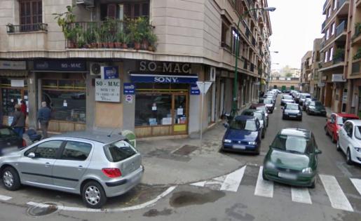 Fachada de la tienda Mac Imatge i So.