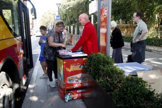 Turistas en Palma el pasado mes de octubre.