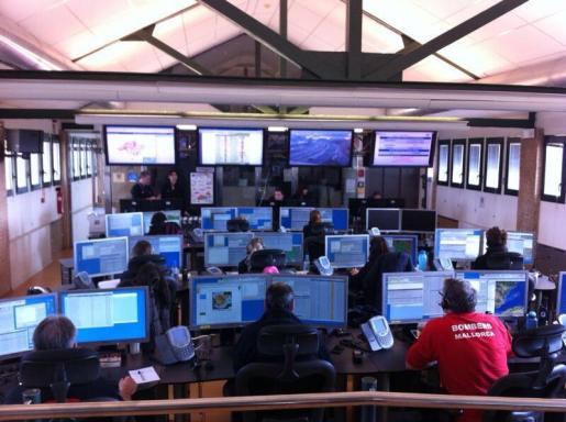 Imagen de la central de llamadas del 112.