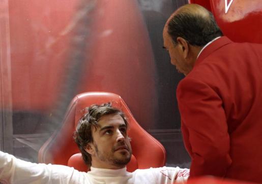 Fernando Alonso, hoy en el circuito de Interlagos.