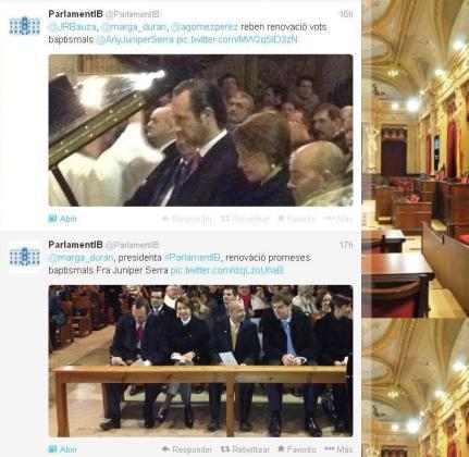 Este es el tweet que realizó el Parlament.