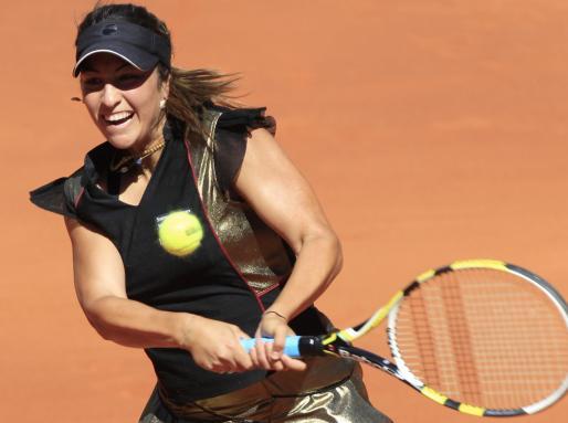 Aravane Rezai, en un momento de su partido contra Venus Williams.