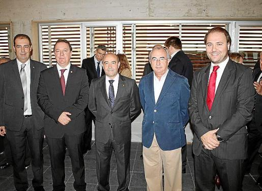 Antonio Aguilar, Rafel Torres, Antonio Gómez, Cristòfol Soler y Felip Jerez.