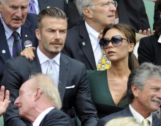 El futbolista inglés David Beckham y su esposa Victoria, en una imagen de archivo.