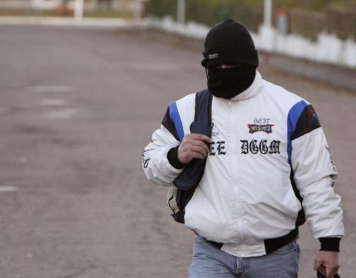 Miguel Ricart, el único condenado por el triple crimen de Alcàsser, a su salida esta tarde de la prisión de Herrera de La Mancha, en Ciudad Real.