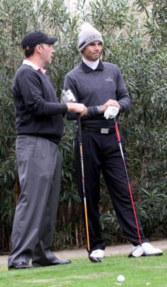 José María Olazábal y Rafael Nadal, durante el torneo.