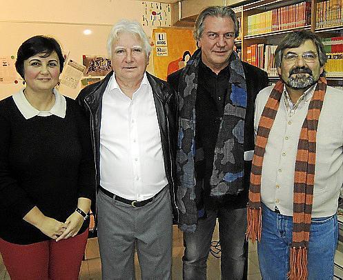 Divina Muñoz, Joan Guasp, Miquel Mestre y Rafel Llobet.