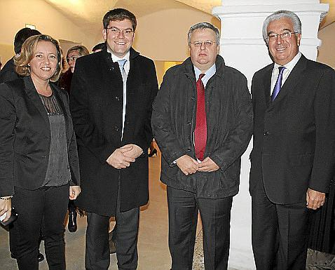 Maria Antònia Binimelis, Martí Sansaloni, Rafael Roig y Gaspar Oliver.