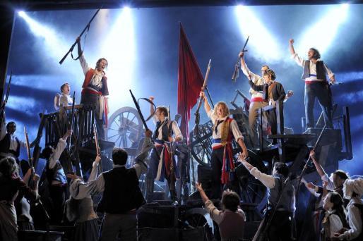 Uno de los momentos del musical 'Los Miserables'.