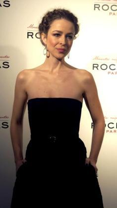 La actriz Silvia Abascal, durante la presentación hoy de Beauty Film de Rochas como nueva embajadora de la firma de cosmética.