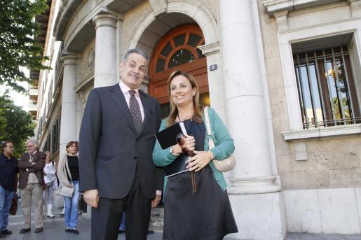 Miquel Ramis y Mabel Cabrer, esta mañana.