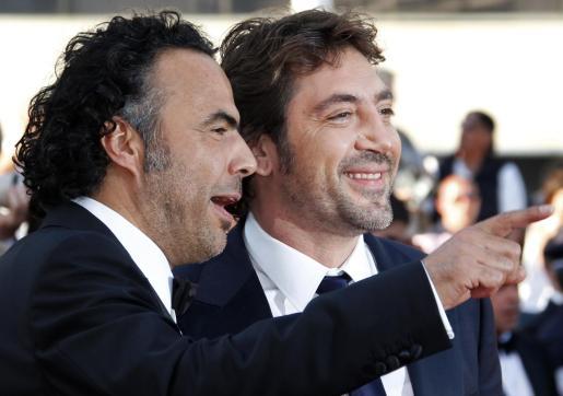 Javier Bardem y el director Alejandro Gonzalez Inarritu, ayer en el Festival de Cannes.
