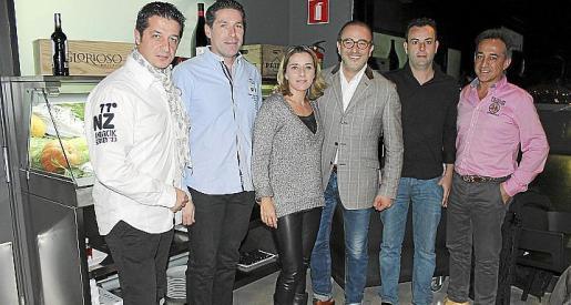 Xisco Torrens, Guillem Oliver, Catina Payés, Pedro Mesquida, Víctor Toro y Pep Torrens.