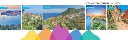 Aspecto del nuevo material para promocionar la zona y destacar la condición de la Serra como Patrimonio Mundial de la Unesco.