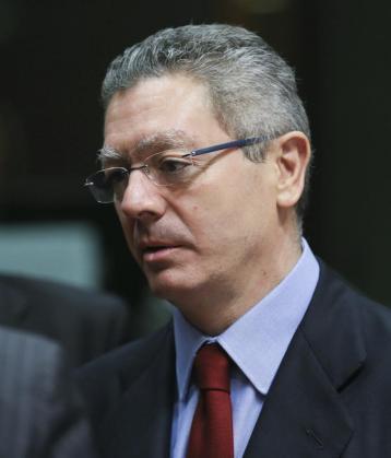 El ministro español de Justicia, Alberto Ruiz Gallardón.