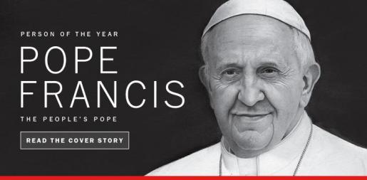 El papa Francisco es la 'Persona del Año' para la revista Time.