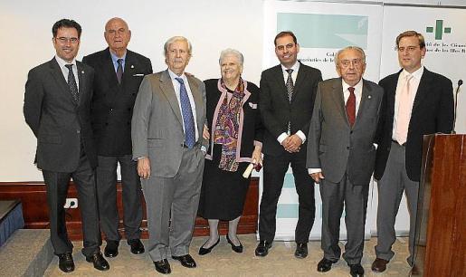 Jaume Juan, Pau Servera, Mª Serafina Carme, César Vicente y Biel y Pedro Martorell.